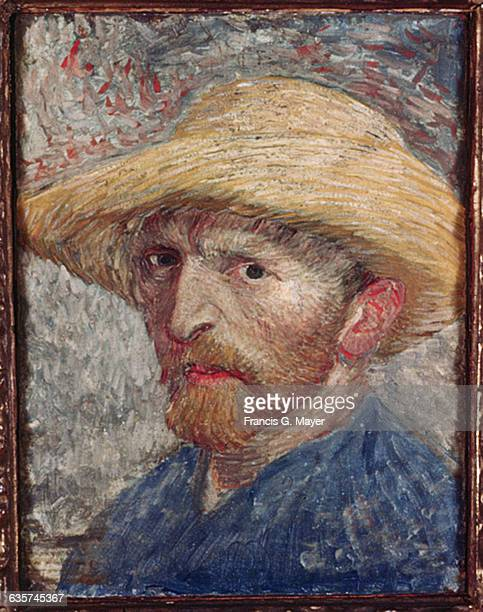 SelfPortrait with Straw Hat by Vincent van Gogh