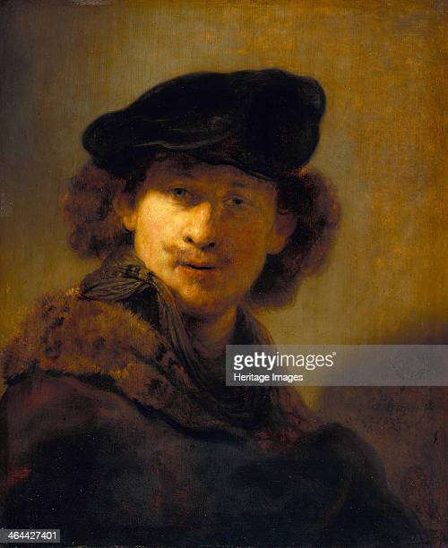 SelfPortrait with Velvet Beret 1634 Found in the collection of the Staatliche Museen Berlin