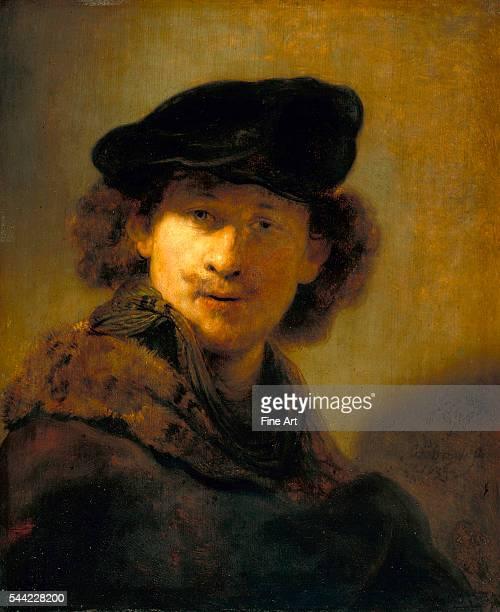 SelfPortrait with Velvet Beret 1634 Oil on oak 475 x 583 cm Gemaldegalerie Berlin Germany