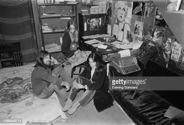 Self-proclaimed citizens of the Free and Independent Republic of Frestonia on Freston Road, London, UK, 30th December 1971. The hippie commune, which...