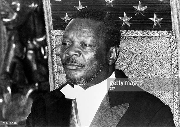 Selfproclaimed emperor of the Central African Republic JeanBedel Bokassa shown in a file photo dated 21 December 1976 during the ceremony in Bangui...