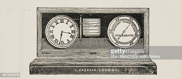 Selfregistering Aneroid Barometer from An illustrated and descriptive catalogue of surveying philosophical mathematical optical photographic and...