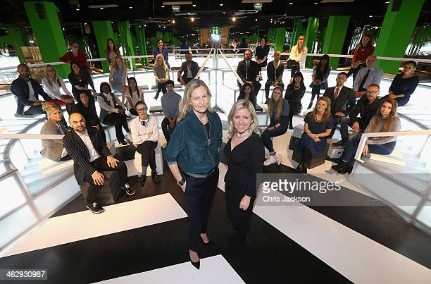 Selfridges creative director Alannah Weston and Lucy Hawking pose for a photograph as she launches the Festival of Imagination in the Imaginarium...
