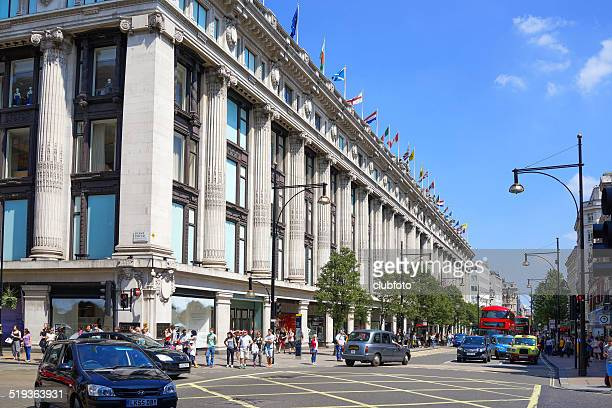 Selfridges Department store in Oxford Street, London, UK