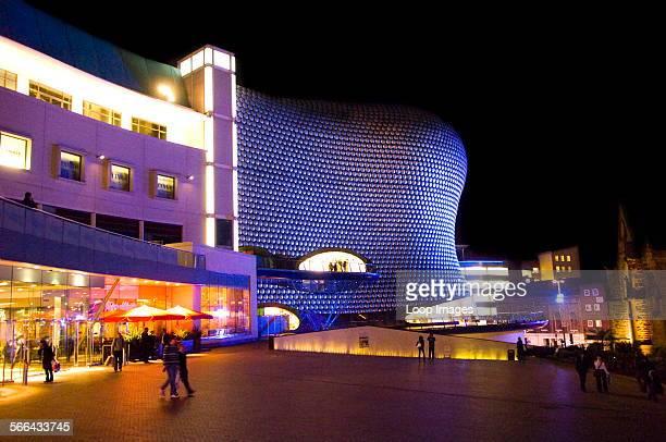 Selfridges department store in the Bullring shopping area of Birmingham at night