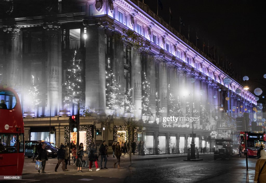 In this digital composite a comparison has been made of Selfridges in 1935 and in 2017.
