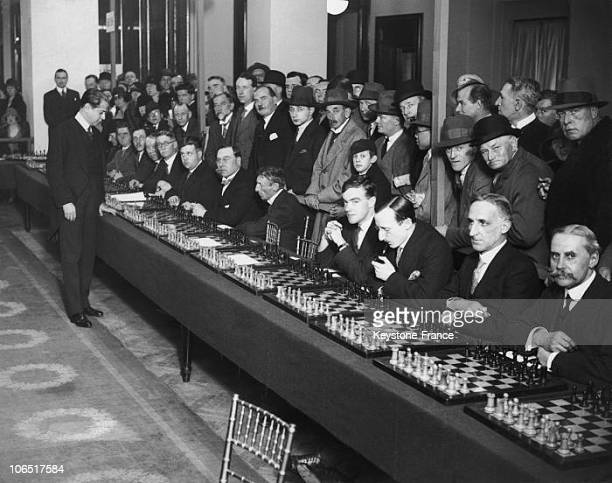 Selfridges Jose Raul Capablanca Playing Against England 40 Best Chess Players In April 8Th 1929