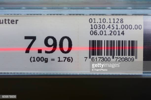 self-scanning in supermarket (migros switzerland / subito) - price tag stock pictures, royalty-free photos & images