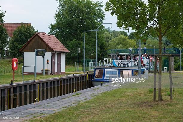 self-service watergate for boats and ships in Himmelpfort Germany