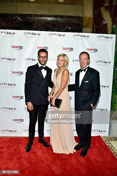 Selim Adira Cecilia Ekrothand Pierre Wolf attend the World Childhood Foundation USA Thank You Gala 2016 Arrivals at Cipriani 42nd Street on September...