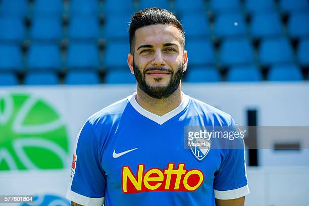 Selim Guenduez poses during the official team presentation of VfL Bochum on July 19 2016 at Vonovia Ruhrstadion in Bochum Germany