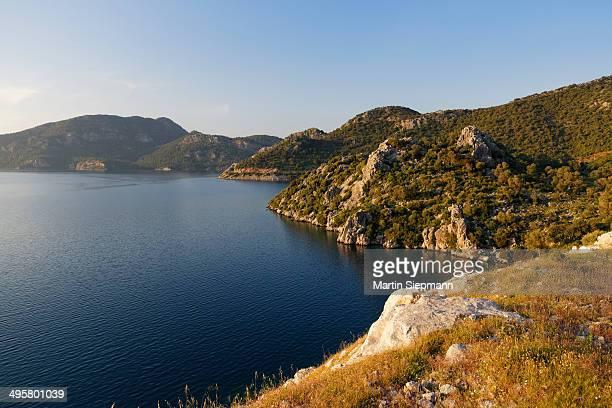 selimiye bay, bozburun peninsula, mugla province, aegean region, turkey - peninsula stock pictures, royalty-free photos & images