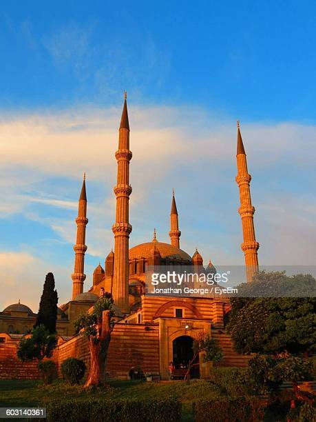 selimiye mosque against sky during sunset - selimiye mosque stock pictures, royalty-free photos & images