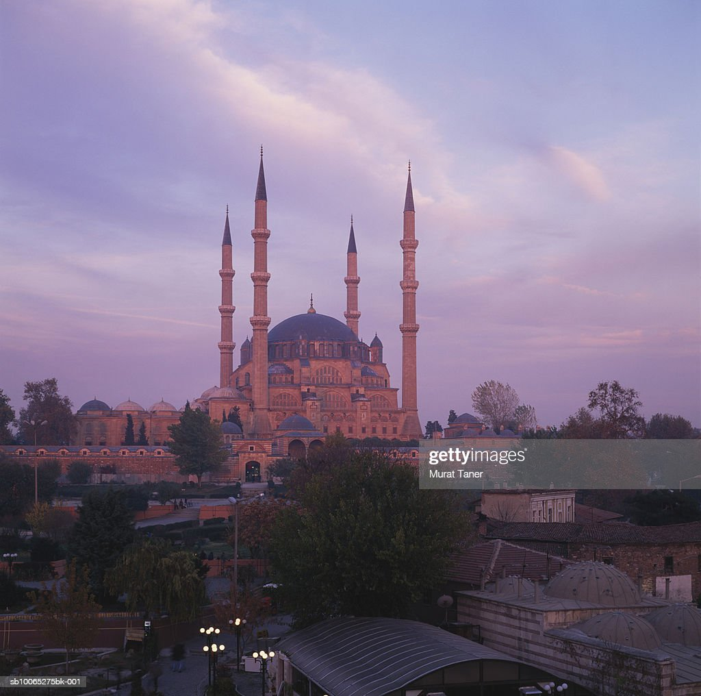 Selimiye Mosque at dusk : Foto stock