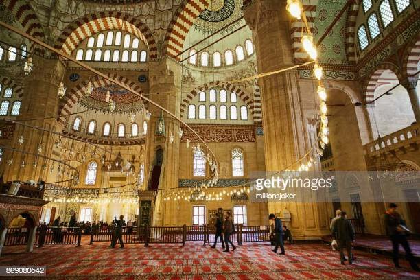 selimiye mosque at edirne, turkey - selimiye mosque stock pictures, royalty-free photos & images