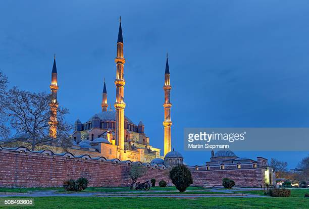 selimiye mosque, built by mimar sinan, edirne, east thrace, marmara region, turkey - edirne stock pictures, royalty-free photos & images