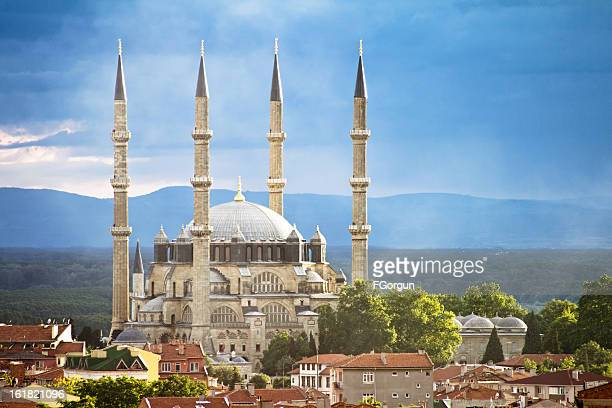 selimiye mosque, edirne, turkey - mosque stock pictures, royalty-free photos & images