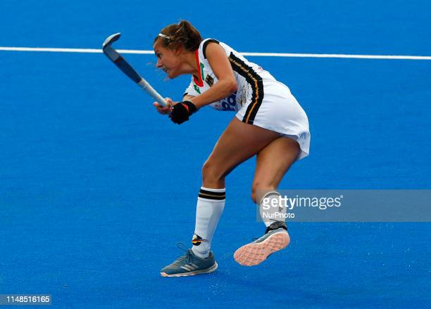 Selin Oruz of Germany during FIH Pro League between Great Britain and Germany at Lee Valley Hockey and Tennis Centre on 07 June 2019 in London England