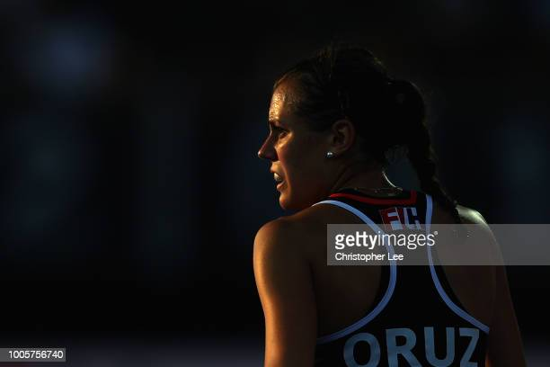 Selin Oruz of Germany during the Pool C game between Germany and Argentina of the FIH Womens Hockey World Cup at Lee Valley Hockey and Tennis Centre...