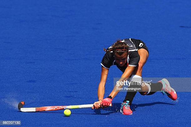 Selin Oruz of Germany in action during the Women's Bronze Medal Match against New Zealand on Day 14 of the Rio 2016 Olympic Games at the Olympic...