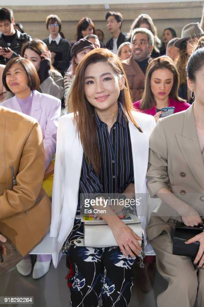 Selina Jen attends the Michael Kors Collection Fall 2018 Runway Show at the Vivian Beaumont Theatre on February 14 2018 in New York City