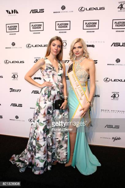 Selina Kriechbaum and guest attend the PF Selected show during Platform Fashion July 2017 at Areal Boehler on July 23 2017 in Duesseldorf Germany