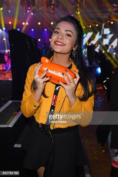 Selina Mour during the Nickelodeon Kids Choice Awards on April 6 2018 in Rust Germany