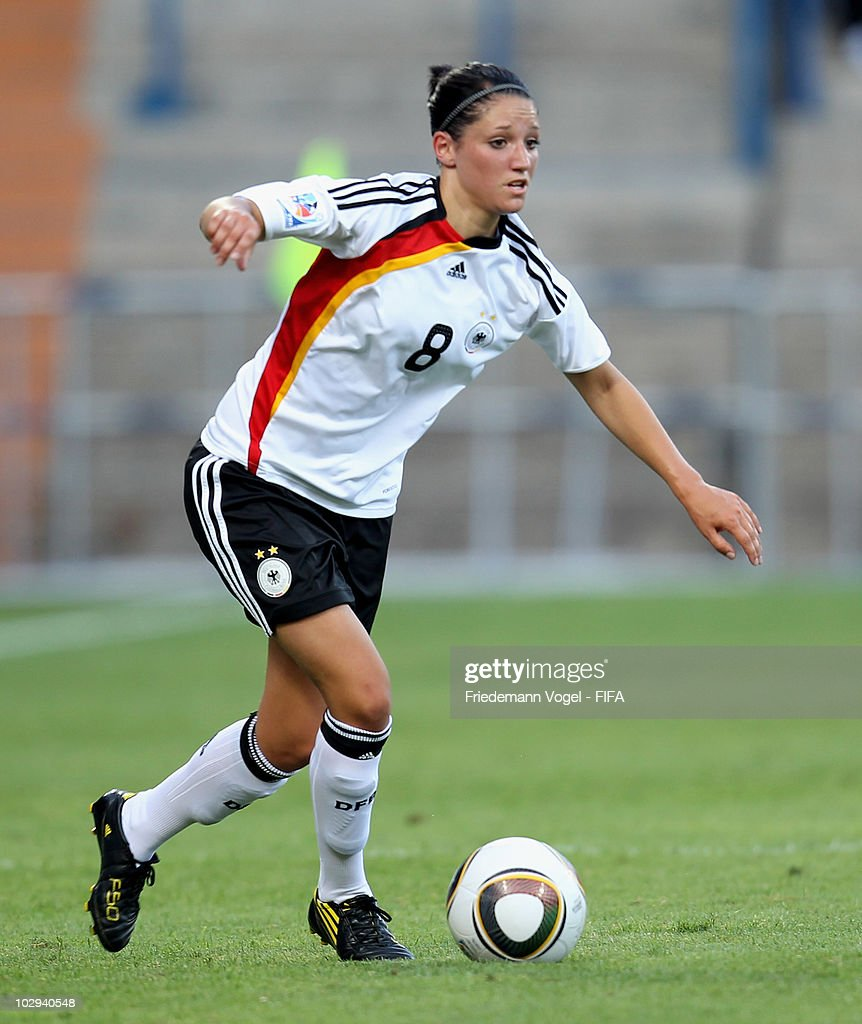 Selina Wagner of Germany in action during the FIFA U20 Women's Worldd Cup Group A match between Germany and Colombia at the FIFA U-20 Women's World Cup stadium on July 16, 2010 in Bochum, Germany.