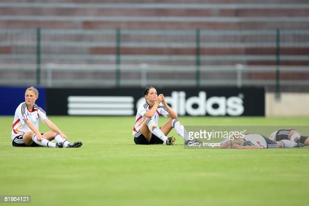 Selina Wagner of Germany looks dejected after the Women's U19 European Championship match between Germany and Norway at Valle du Cher stadium on July...