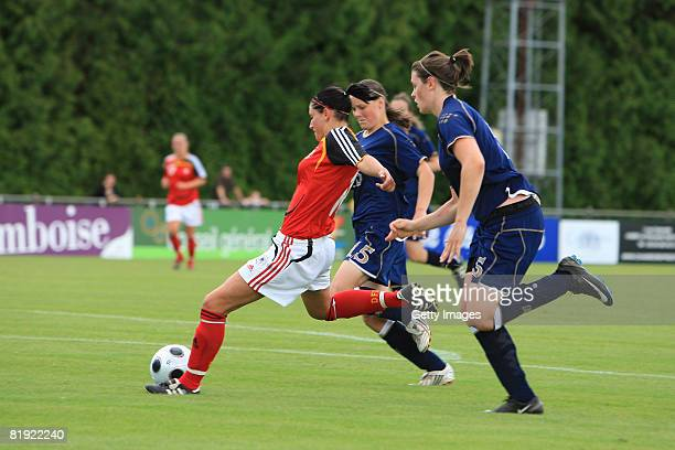 Selina Wagner of Germany shot a goal during the Women's U19 European Championship match between Scotland and Germany at the Georges Boulogne/Ile d'Or...
