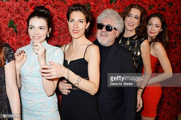 Seline Hizli Tamsin Greig Pedro Almodovar Haydn Gwynne and Anna Skellern attend an after party following the press night performance of 'Woman On The...