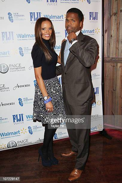 Selita Ebanks and AJ Calloway attend the New Yorkers for Children Wrap to Rap benefit at The Ainsworth on November 30 2010 in New York City