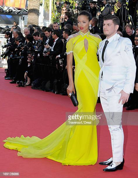 Selita Ebanks and Eli Mizrahi attend the Blood Ties Premiere during the 66th Annual Cannes Film Festival at Grand Theatre Lumiere on May 20 2013 in...