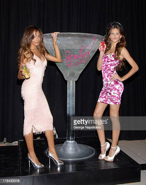 Selita Ebanks and Izabel Goulart during Victoria's Secret Supermodels Selita Ebanks and Izabel Goulart Toast to Beauty Rush Body Collection in New...