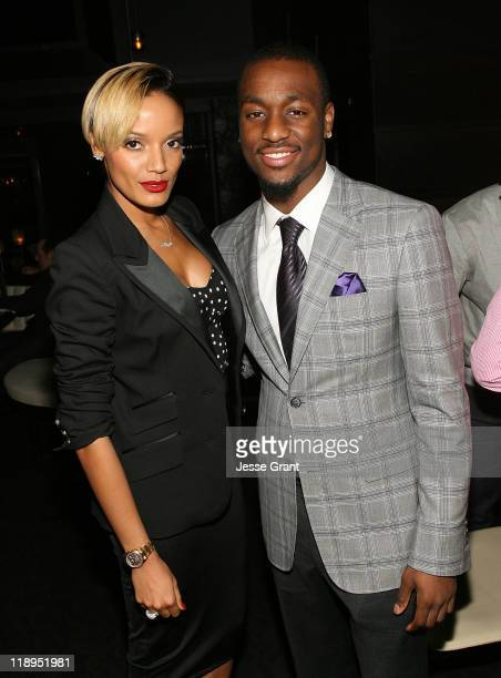 Selita Ebanks and Kemba Walkers attend the iRenew preESPY dinner for ESPY nominee Kemba Walker at STK on July 12 2011 in Hollywood California