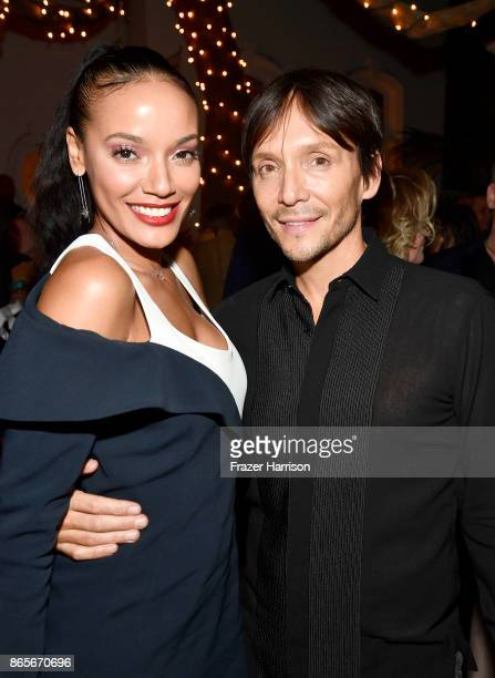Selita Ebanks and Ken Paves at the grand opening of the new Ken Paves Salon hosted by Eva Longoria on October 23 2017 in Los Angeles California