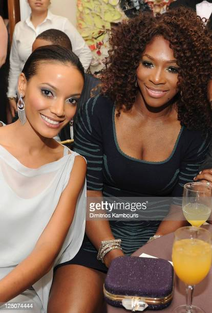 Selita Ebanks and Serena Williams attend The Compound Foundation 2011 Annual Benefit at Private Residence on September 14 2011 in New York City