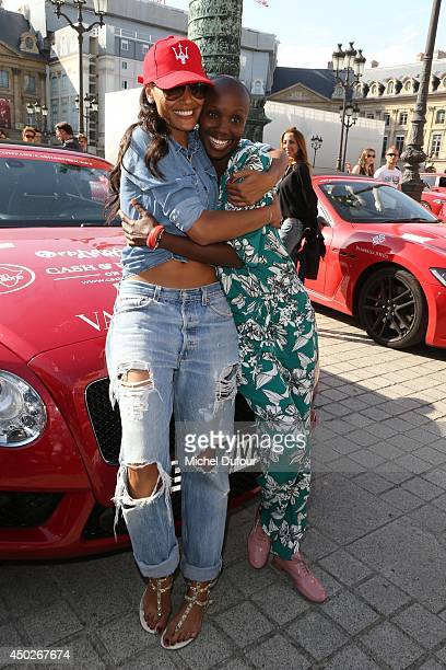 Selita Ebanks and Tiffany Persons attend 'Cash Rocket' On Tour At Place Vendome In Paris at Place Vendome on June 7 2014 in Paris France
