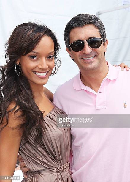 Selita Ebanks and VP Active Lifestyle Global Expansion Team at vitaminwater Rodolfo Echeverria visit vitaminwater Lunch Series With Aria Crescendo at...