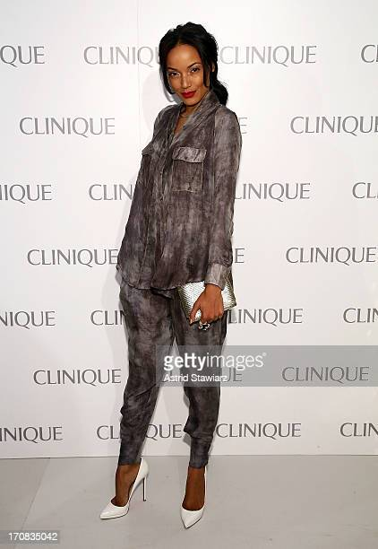 Selita Ebanks attends Dramatically Different Party Hosted By Clinique at 620 Loft Garden on June 18 2013 in New York City