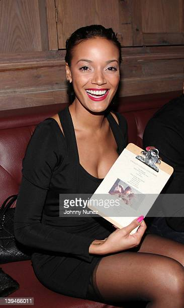 Selita Ebanks attends her surprise birthday dinner at Sons of Essex on February 20 2012 in New York City