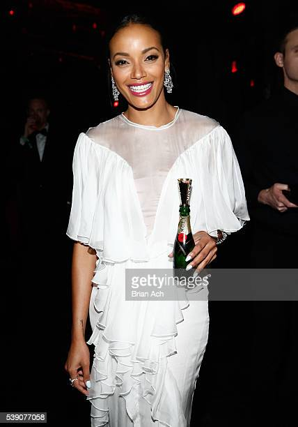 Selita Ebanks attends Moet Chandon's toast to the amfAR Inspiration Gala In New York City on June 8 2016 in New York City