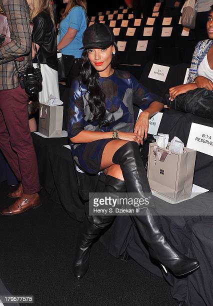 Selita Ebanks attends the BCBGMAXAZRIA show during Spring 2014 Mercedes-Benz Fashion Week at The Theatre at Lincoln Center on September 5, 2013 in...