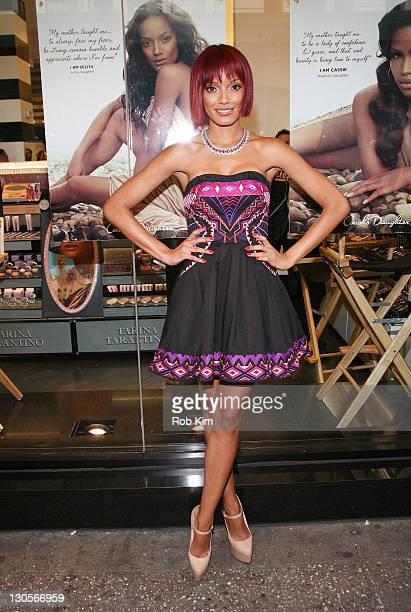 Selita Ebanks attends the Carol's Daughter Spokesbeauty Monoi Repairing Collection Launch at Sephora on May 24 2011 in New York City