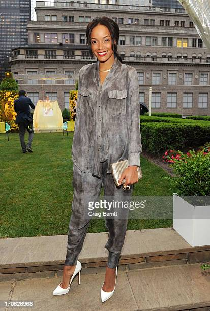 Selita Ebanks attends the Dramatically Different Party hosted by Clinque at 620 Loft Garden on June 18 2013 in New York City