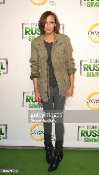 Selita Ebanks attends the launch party of Oxygen's new series Running Russell Simmons at Lavo on October 19 2010 in New York City