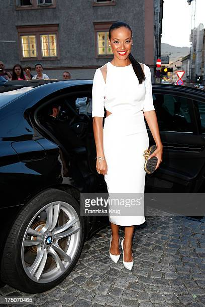 Selita Ebanks attends the Montblanc Salzburg Festival Young Directors Project on July 30 2013 in Salzburg Austria