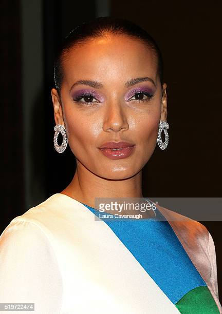 Selita Ebanks attends the New Yorkers for Children's Spring Dinner Dance A Fool's Fete at Mandarin Oriental New York on April 7 2016 in New York City