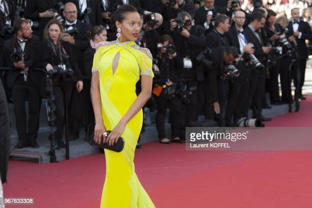 Selita Ebanks attends the Premiere of 'Blood Ties' during the 66th Annual Cannes Film Festival at the Palais des Festivals on May 20 2013 in Cannes...