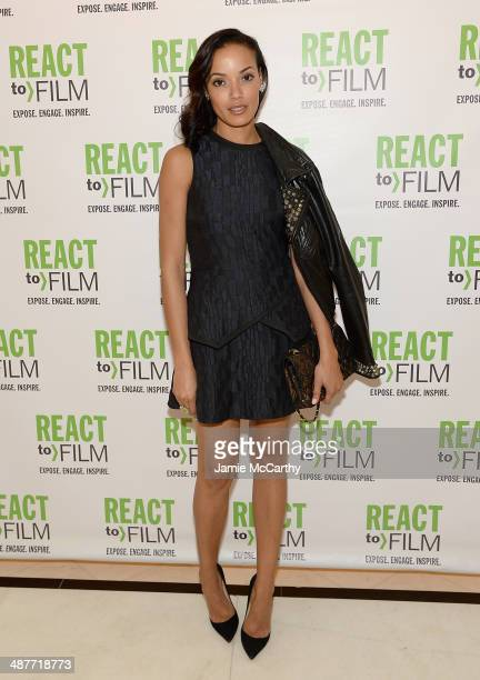 Selita Ebanks attends the React To Film Awards on May 1 2014 in New York City
